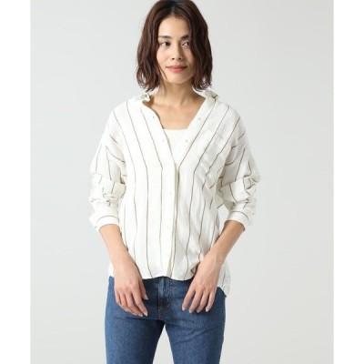 シャツ ブラウス (SACRECOEUR)ストライプシャツ