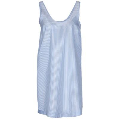 メルシー ..,MERCI ミニワンピース&ドレス アジュールブルー S ポリエステル 100% ミニワンピース&ドレス