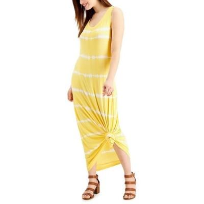 スタイルアンドコー ワンピース トップス レディース Tie-Dyed Sleeveless Maxi Dress, Created for Macy's Sunflower Tie Dye