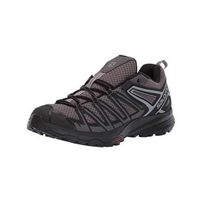 Salomon Men's X Crest Hiking Shoes, Magnet/Black/Monument, 9.5