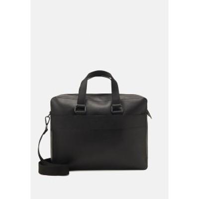 ジン メンズ ショルダーバッグ バッグ LEATHER - Briefcase - black black