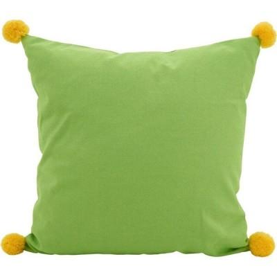 """サロライフスタイル Saro Lifestyle ユニセックス 雑貨 ブランケット Pom Pom Throw Pillow, 18"""" x 18"""" Lime"""