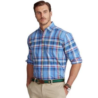 ラルフローレン シャツ トップス メンズ Men's Big & Tall Plaid Linen Shirt Blue/Navy Multi