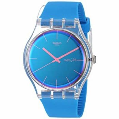腕時計  Swatch 1901 変換クオーツ シリコンストラップ ブルー 20 カジュアルウォッチ (モデル:SUOK711)