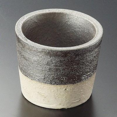 業務用食器 黒窯変掛け分け2.8小鉢(信楽焼) 8.5×7cm 小附