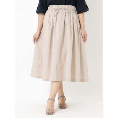 【大きいサイズ】ギャザースカート / 大きいサイズ 大きいサイズ スカート レディース