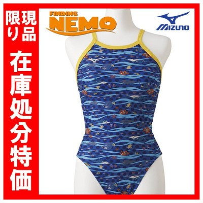 在庫処分特価 ミズノ エクサースーツ ディズニー ファインディングニモ N2MA928827 XSサイズ レディス ミディアムカット 練習水着 競泳 ネコポス発送 代引き不可