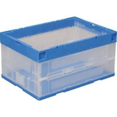 DICプラスチック パタパタ 40L(ブルー透明) 折りたたみコンテナ RP-40B BT 【返品種別B】