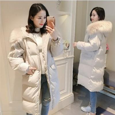 送料無料 ダウンジャケット ダウンコート レディース アウター 中綿 コート ふわふわ 防寒 フード付き ロングコート 大きいサイズ