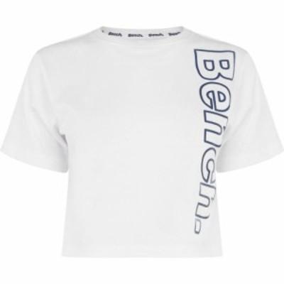 ベンチ Bench レディース ベアトップ・チューブトップ・クロップド トップス diana crop t-shirt Optic White