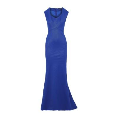 ZAC POSEN ロングワンピース&ドレス ブライトブルー 2 ナイロン 48% / ポリエステル 48% / ポリウレタン 4% ロングワンピー