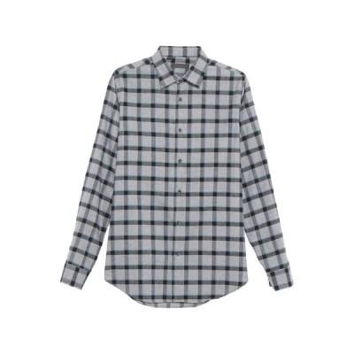 ALESSANDRO DELL'ACQUA チェック柄シャツ  メンズファッション  トップス  シャツ、カジュアルシャツ  長袖 グレー