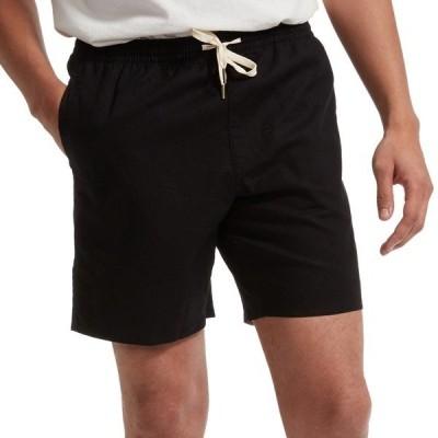 リズム メンズ ハーフ&ショーツ ボトムス Rhythm Classic Linen Jam Shorts Black
