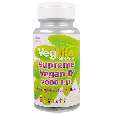 Supreme Vegan D, 2,000 IU, 100 Tablets