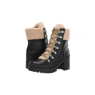 Steve Madden スティーブマデン レディース 女性用 シューズ 靴 ブーツ レースアップ 編み上げ Bundleup Winter Boot - Black Leather