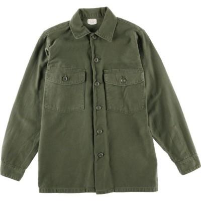 70s 米軍実品 ユーティリティシャツ USA製 メンズS /eaa023913