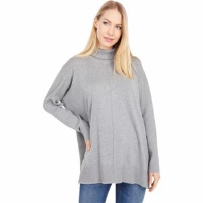 リラピー Lilla P レディース ニット・セーター トップス Oversized Turtleneck Sweater Heather Grey