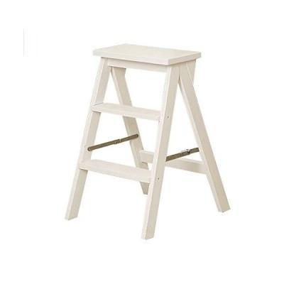 YMBLS 大人のためのステップスツール多機能折りたたみ式はしごフレーム階段椅子スツール/白