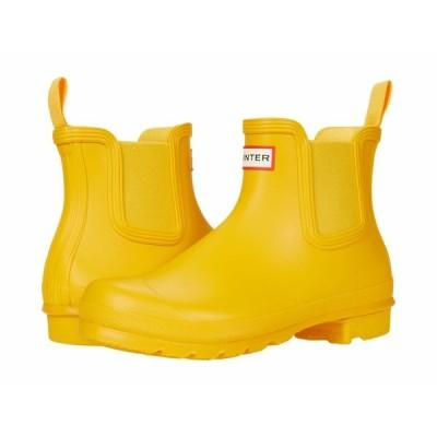 ハンター ブーツ&レインブーツ シューズ レディース Original Chelsea Yellow