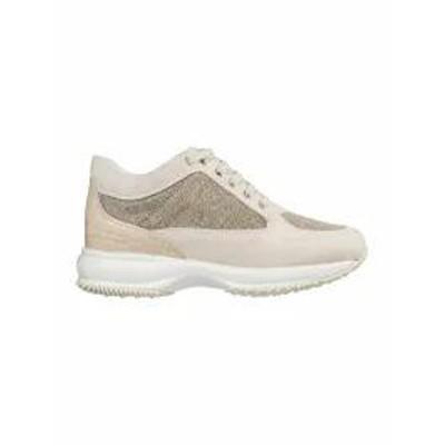 Hogan レディーススニーカー Hogan Shoes Suede Trainers Sneakers Interactive Beige