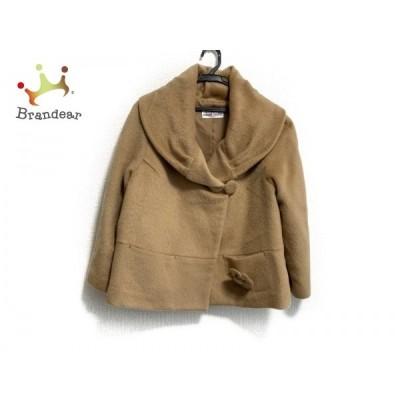 ギャラリービスコンティ コート サイズ3 L レディース 美品 ライトブラウン ショート丈/冬物   スペシャル特価 20200130