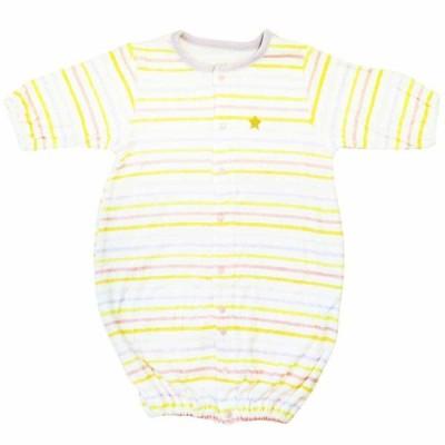 ベビーザらス限定 新生児2WAYドレスオール パイル (パープルボーダー×50-60cm)
