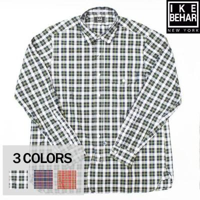 IKE BEHAR(アイク ベーハー) L/S ROUND COLLAR SHIRTS(長袖ラウンドカラーシャツ) TARTAN CHECK(タータンチェック)BROAD