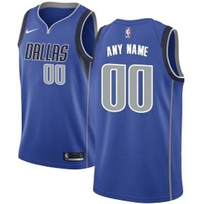 ナイキ メンズ Tシャツ トップス Dallas Mavericks Nike Swingman Custom Jersey Royal Icon Edition