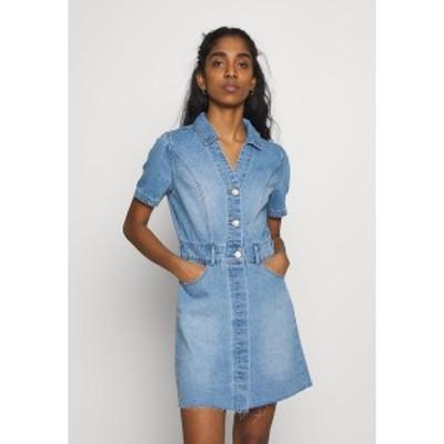 ノイジーメイ レディース ワンピース トップス NMLISA DRESS - Denim dress - light blue denim light blue denim