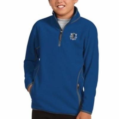 Antigua アンティグア スポーツ用品  Antigua Dallas Mavericks Youth Royal Ice Quarter-Zip Pullover Jacket
