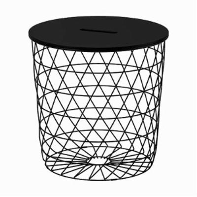 IKEA イケア リビングテーブル 収納付き ブラック 44cm n70480402 KVISTBRO