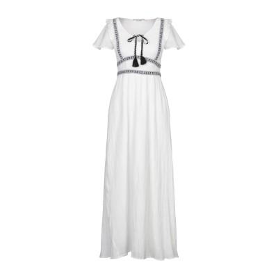 NAF NAF ロングワンピース&ドレス ホワイト 38 コットン 100% ロングワンピース&ドレス