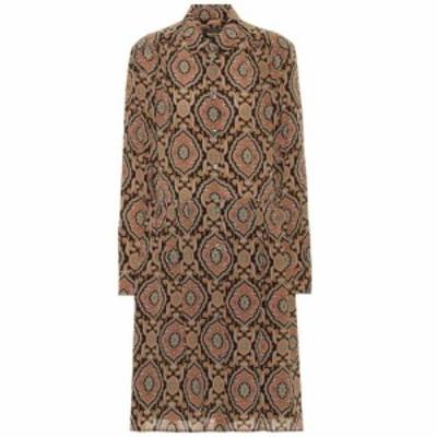アーペーセー A.P.C. レディース ワンピース シャツワンピース ワンピース・ドレス Printed silk shirt dress Saa Multicolore