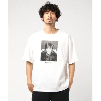 tシャツ Tシャツ BILLY'S David Bowie BIG S/STEE デヴィッド・ボウイ DBB-2 WHITE