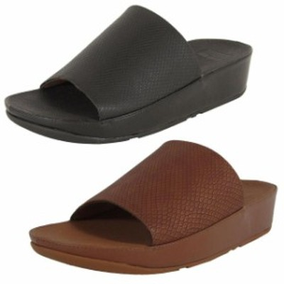 FitFlop フィットフロップ ファッション サンダル Fitflop Femmes Ginny Serpent en Relief Glissiere Chaussures Sandales