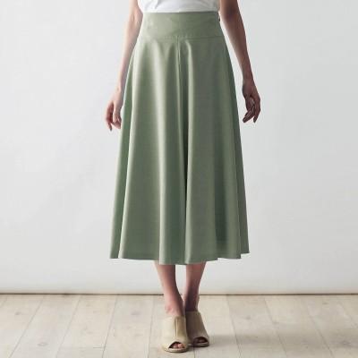 さらっと清涼感のある吸水速乾裏地を使った【Bsta】フレアスカート[日本製](スタイルノート/StyleNote)