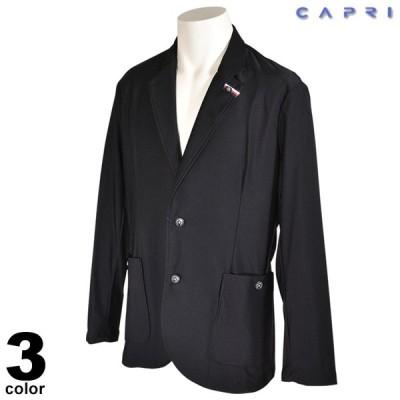 セール 80%OFF CAPRI カプリ テーラードジャケット メンズ 春夏 シングル 軽量 ロゴ 3239-6401
