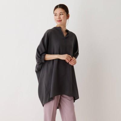 シューラルー SHOO-LA-RUE ドルマンスキッパーチュニックシャツ (チャコールグレー)