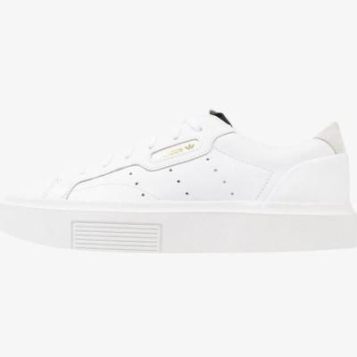 アディダス レディース 靴 シューズ SLEEK SUPER - Trainers - footwear white/crystal white/core black