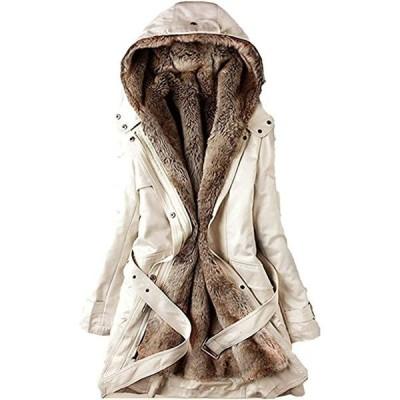 レディース モッズコート アウター コート ジャケット ミリタリーコート 中綿コート 長袖 中綿 フード付き フェイクファー(s2111131255)