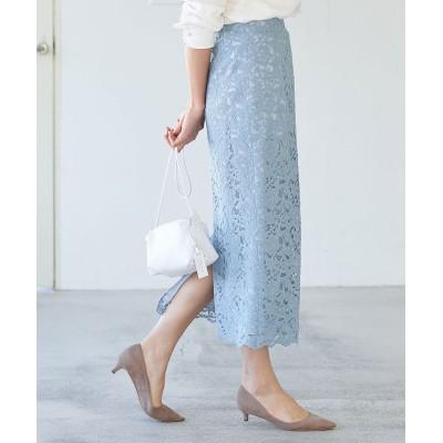 《予約》【洗える】コードレースナロースカート