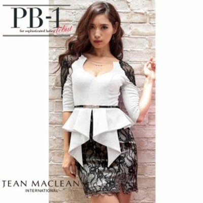 JEANMACLEAN ドレス ジャンマクレーン キャバドレス ナイトドレス ワンピース jean maclean ホワイト 白 7号 S 85300 クラブ スナック キ