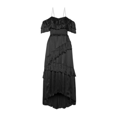 ULLA JOHNSON シルクドレス ファッション  レディースファッション  ドレス、ブライダル  パーティドレス ブラック