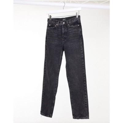 オンリー Only レディース ジーンズ・デニム ボトムス・パンツ Straight Leg Jeans With High Waist In Black ウォッシュブラック