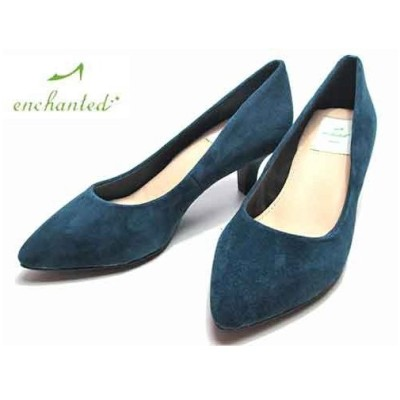エンチャンテッド enchanted ポインテッドパンプス ブルーS レディース・靴
