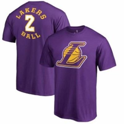 Fanatics Branded ファナティクス ブランド スポーツ用品  Fanatics Branded Lonzo Ball Los Angeles Lakers Purple Round About Name &