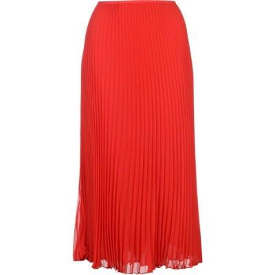 ラルフ ローレン Polo Ralph Lauren レディース ひざ丈スカート スカート Pleated Midi Skirt Red