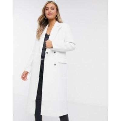 エイソス レディース コート アウター ASOS DESIGN lightweight coat in ivory Ivory