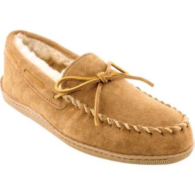 ミネトンカ スニーカー シューズ メンズ Sheepskin Hardsole Moccasin Slipper (Men's) Golden Tan Suede/Sheepskin