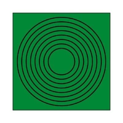 ユニット ゲージマーカー円形緑・PPステッカー・10枚組 44686
